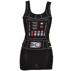 Ladies Black Darth Vader Star Wars Vest Dress