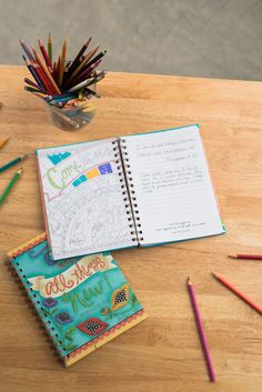 Make all things news: We carry a variety of journals with everyone's diary and journaling needs! Even coloring books! #books #journals #diaries #journaling #prayer #accessories #home #decor #homedecor #inspiration #faith #brownlowgifts #brownlow #faith #kids