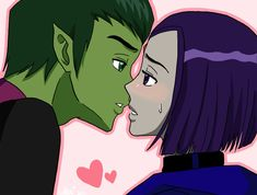 """Raven...I want to show you that...you're not alone...never..."" ""Beastboy...Th-Thank you..."" ""Raven...I love you."" ""...I...I love you too..."" ""Let me illustrate that for you.."" ""W-we Can't! Beastbo..."