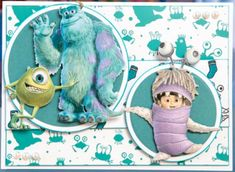 Disney Monsters, Monsters Inc, Create And Craft, Card Ideas, Cards, Fictional Characters, Inspiration, Color, Invitations