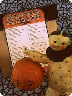 Halloween Scavenger Hunt free printable and party ideas