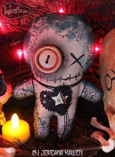 Voodoo doll. Original Handmade Voodoo Doll New Orleans Voodoo Spooky Doll Plush Halloween OOAK Folk Art