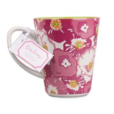 $10.00 Lilly Pulitzer Cafe Lilly Coffee Mug - Scarlet Begonia FOR TEA