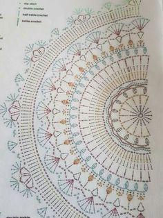 Best 11 No photo description available. Crochet Bedspread Pattern, Crochet Doily Diagram, Crochet Mandala Pattern, Crochet Circles, Crochet Stitches Patterns, Crochet Chart, Crochet Paisley, Crochet Home, Knit Crochet