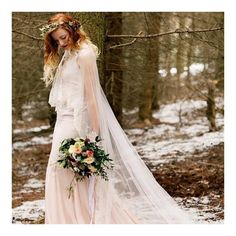 Image by Jo Bradbury - Terry Fox Wedding Dresses For A Winter Bridal Inspiration Shoot In The Peak District With Stationery By Emma Jo And Flowers By Wild Orchid With Images From Jo Bradbury Wedding Photography Mermaid Bride Dresses, Princess Bride Dress, Bridal Dresses, Wedding Dress Trends, Bohemian Wedding Dresses, Colored Wedding Dresses, Wedding Robe, Fox Wedding, Wedding Veils