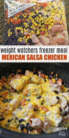 This Weight Watchers Salsa Chicken Make Ahead Freezer Meal is perfect for your b. - This Weight Watchers Salsa Chicken Make Ahead Freezer Meal is perfect for your busy schedule. Chicken Freezer Meals, Make Ahead Freezer Meals, Crock Pot Freezer, Chicken Recipes, Freezer Meal Recipes, Crockpot Salsa Chicken, Freezer Salsa, Crockpot Freezer Recipe, Crock Pot Chicken Mexican