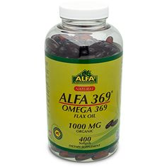 Alfa Vitamins Alfa 3-6-9 1000 Mg Nutrition Supplement, 400 Count