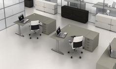 #biurka pracownicze w #open-space z kolekcji #PROXY http://www.arteam.pl/kolekcja/meble-pracownicze/proxy/