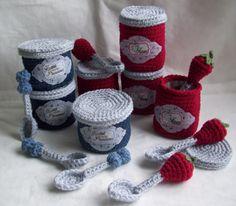 KTBdesigns: Jam Jars and Spoons...crochet play food