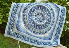 Done by Tatsiana who lives in the Czech Republic. Squared Large mandala.| LillaBjörn's Crochet World
