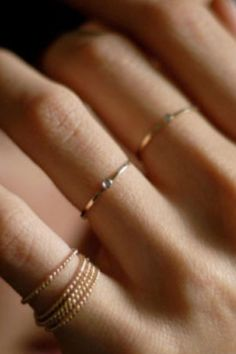 Rings jewelry gold stylish
