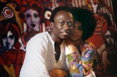 Miles Davis and Betty Davis at home, NYC, 1969. Photo by Baron Wolman