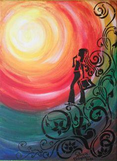 "Tablou ""Shopping Girl"" (90 LEI la PatriciaDraghiciu.breslo.ro) Paintings, Crafty, Shopping, Art, Ideas, Paint, Painting Art, Kunst, Draw"