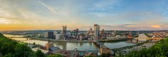 A Breathtaking View of Pittsburgh at the Top of the Mountain -  Photo by Dave DiCello