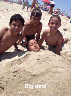 Beach time for the boys:)