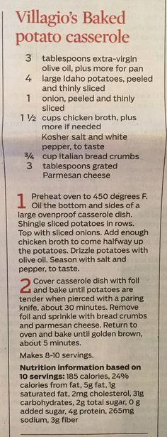 Villa good baked potato casserole