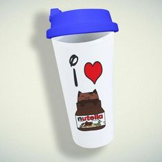 LOVE NUTELLA Double Wall Plastic Mug – giftmug Eco Friendly Cups, Plastic Mugs, Gifts For Family, Wall Design, Nutella
