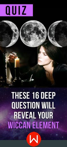 Truthfully answer these 16 deep questions to find out which Wiccan element you share the most with. Water, Fire, Air, or Earth? Wiccan personality quiz, Magic test, Fun quiz. What's your Wiccan Element?