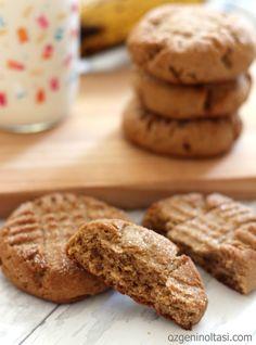 fıstık ezmeli muzlu kurabiye, muzlu kurabiye, fıstık ezmeli kurabiye