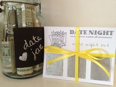 Sewing Barefoot: date night scratch-offs (I like the ideas of the chalk board date night jar, valentines mops craft?!) @Josh Lam Clark