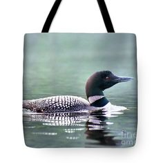 Loon Tote Bag available through Fine Art America by Sandra Huston