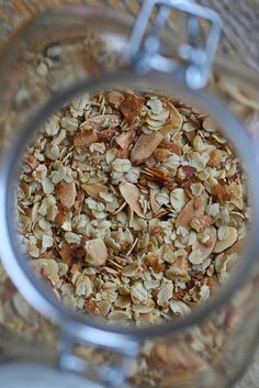 Toasted Coconut Muesli: less sugary than granola, crunchier than true muesli.