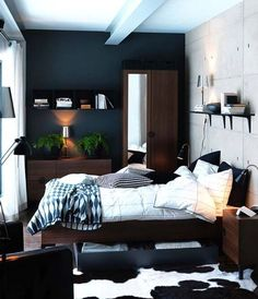 46 Awesome Small Bedroom Design Ideas To Get Comfortable Sleep Ikea Men S Decor
