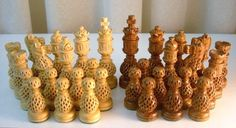 homemade chess sets wood - Google Search
