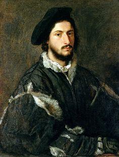 Portrait de Vincenzo Mosti, Titien, (Florence, Galleria Palatina du Palazzo Pitti)