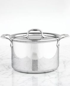 All-Clad Stainless Steel 4.5 Qt. Covered Soup Pot