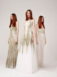 Love the dress on the left. Basil Soda - Couture - Spring-summer 2013