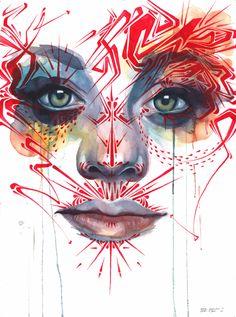 Marion Bolognesi and Stinkfish collaboration art print Marion Bolognesi, Hipster Design, Painter Artist, Collaborative Art, Graffiti Art, Art Blog, Lovers Art, Art Inspo, Illustration Art