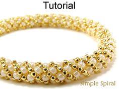 Simple Spiral Russian Spiral Stitch Digital PDF Beading Pattern Tutorial
