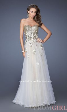 Full Length Tulle A-Line Formal Gown