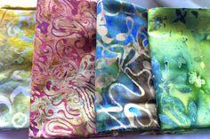 April 26 #FlareFabrics TGIF giveaway. Repin for a chance to win these 4 batik fat quarters from Princess Mirah, Batik Textiles and Benartex. Head over to facebook.com/flarefabrics to add your name. April 26, Fat Quarters, Tgif, Giveaways, Lust, Applique, Quilting, Fabrics, Textiles