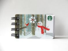 STARBUCKS HOLIDAY CHRISTMAS Upcycled Gift Card by CampfireDesigns