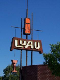 Luau Restaurant, Fresno, California.  I adore the design...so very retro.