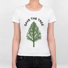 SAVE THE TREE - 女生 T-Shirt - Silent room | 62Icon