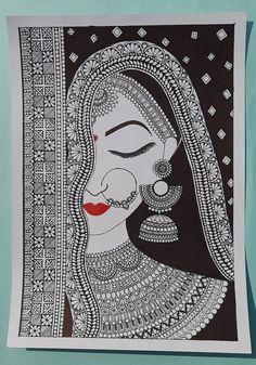 Mandala Art Lesson, Mandala Artwork, Easy Mandala Drawing, Mandala Sketch, Mandala Canvas, Madhubani Art, Madhubani Painting, Art Drawings Sketches Simple, Art Drawings Beautiful