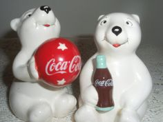 Coca Cola Salt and Pepper shakers White by SocialmarysTreasures, $10.00