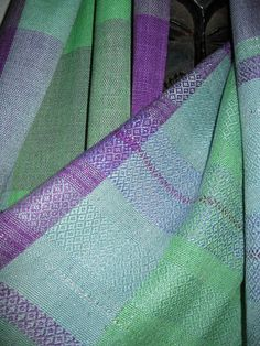 Handwoven Silk Shawl Wrap  Purple Green and Blue by tisserande, $220.00