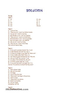 To be and to have got revision * Part 1 * 3 pages * 10 exercises * with key