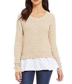 Copper Key Speckled Knit Pullover #Dillards