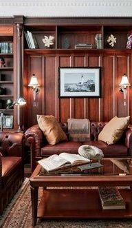 Masculine #Living Room Design