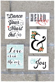 Get inspired with these 40+ Free Printables for Gallery Walls | Remodelaholic.com