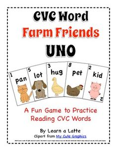 CVC Word Farm Friends UNO
