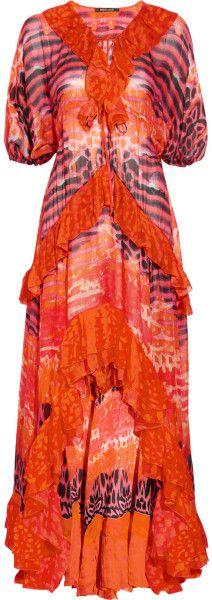 Printed Silk chiffon Kaftan Gown - Lyst