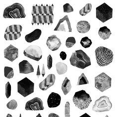 Late night digitally organising rocks that don't exist. . . . . . #illustration #illustrator #illustrated #illustrating #draw #drawing…