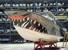 """I want this Wrap on my boat """"Shark""""🚤 ➖Dope❓Nope Fast Boats, Cool Boats, Speed Boats, Power Boats, Small Boats, Boat Wraps, Boat Stuff, Yacht Boat, Boat Design"""