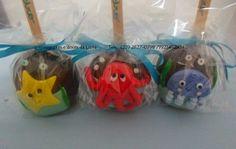 Cupcakes e Doces da Liana: maça do amor fundo do mar